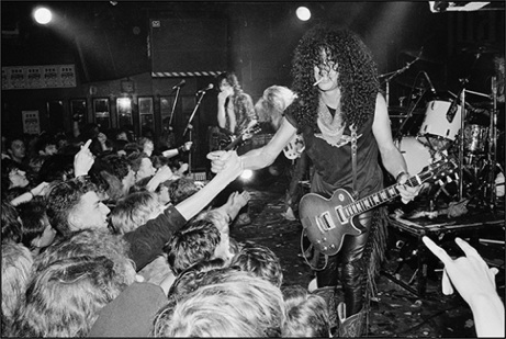 Guns N' Roses at The Marquee in London (1987) by Richard Bellia