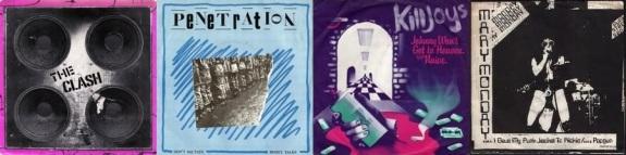The Clash, Penetration, The Killjoys and Mary Monday singles